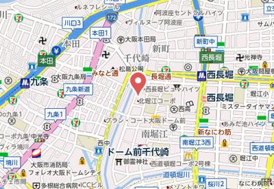 【地図】スワンズシティ北堀江