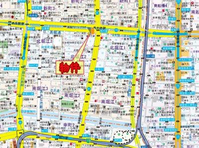 【地図】CityLifeクラウンハイム長堀通