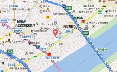 【地図】アルトピノ花川