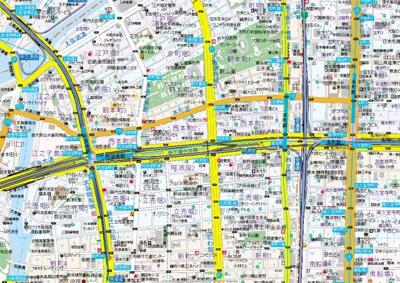 【地図】クオーレ靭公園