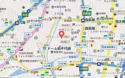 【地図】エスリード南堀江レジデンス