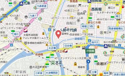 【地図】エスリード南堀江グランツ