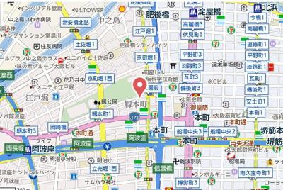 【地図】エスリード靱公園