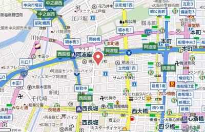 【地図】エスリード阿波座サウスプレイス