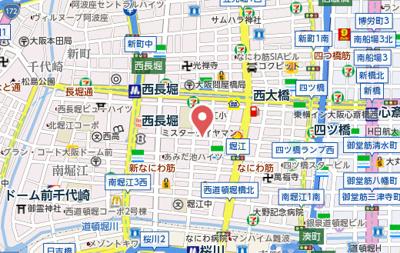 【地図】エスライズ北堀江スワン
