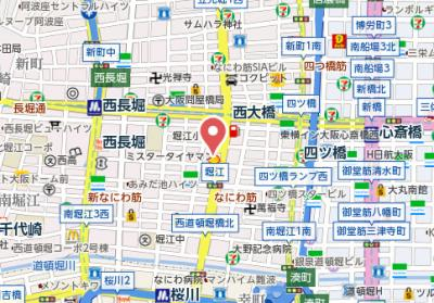 【地図】エスライズ北堀江