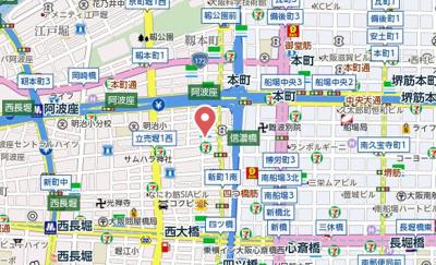 【地図】エコロジー立売堀レジデンス