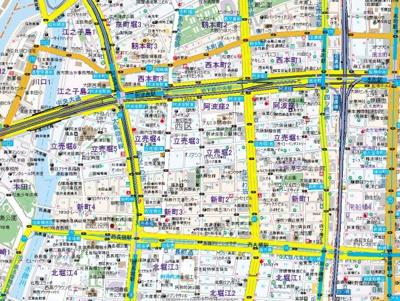 【地図】インベスト本町WEST