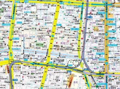 【地図】アンシャンテ南堀江