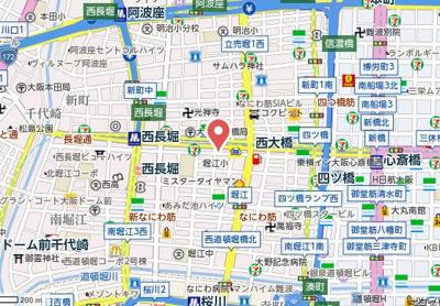 【地図】アーバンコンフォート堀江