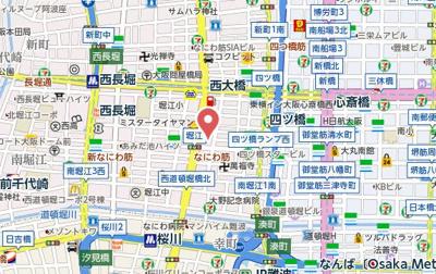 【地図】プロシード北堀江