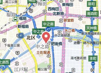 【地図】フラッグス肥後橋