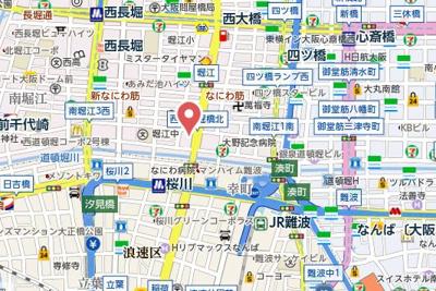 【地図】BRAVI南堀江
