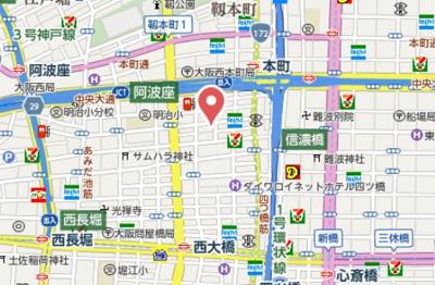 【地図】ドゥーエ立売堀