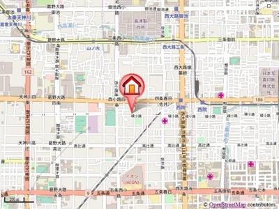【地図】PARK WEST 雅