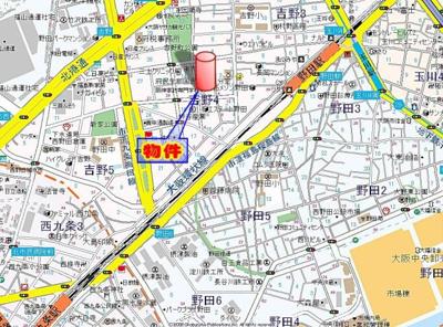 【地図】レジュールアッシュ福島キューズ