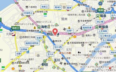 【地図】レジデンス野田阪神