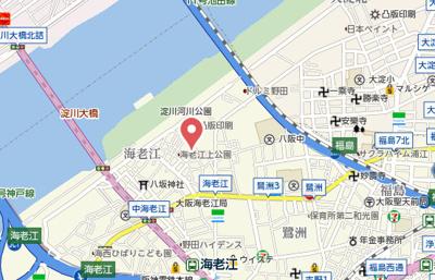 【地図】Luxe海老江Ⅱ