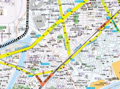 【地図】ライフフィールド福島吉野