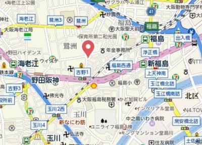 【地図】八幡ハイツ