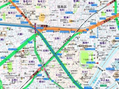 【地図】メニュール新福島マンション