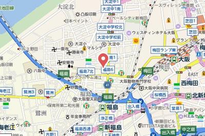 【地図】メゾン・ド・ヴィレしうん福島