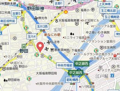 【地図】プレサンス福島ニューゲート