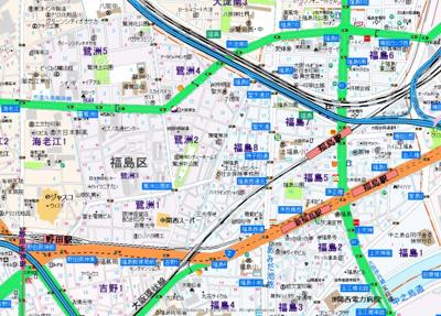 【地図】プレサンス大阪福島レシェンテ
