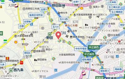 【地図】プレサンス大阪ゲートシティ