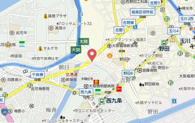 【地図】BLUE福島