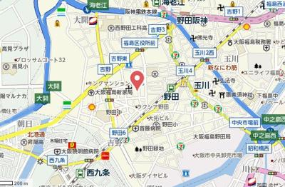 【地図】プリモディーネ福島