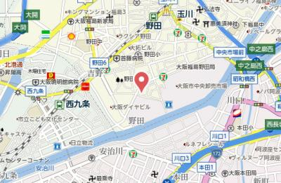 【地図】プリマベラ福島