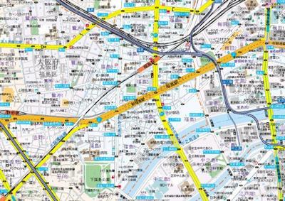 【地図】ブランTAT福島