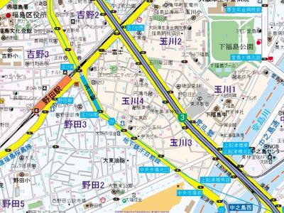 【地図】フジパレス福島ノース