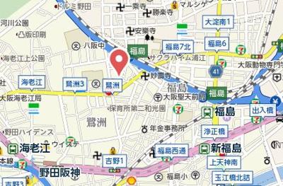 【地図】福島スカイハイツ