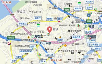 【地図】ビバーチェ鷺洲