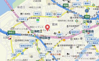 【地図】阪神ハイグレードマンション12番館