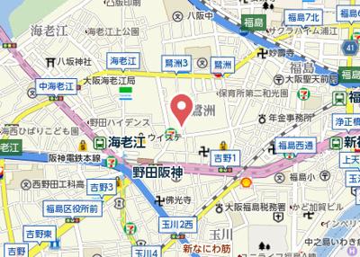 【地図】阪神ハイグレードマンション3番館