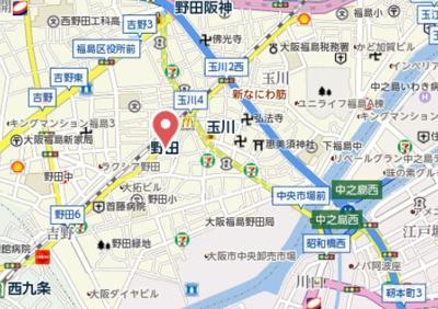 【地図】パーラム野田