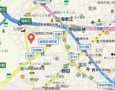 【地図】TOYOTOMI STAY PREMIUM 梅田西