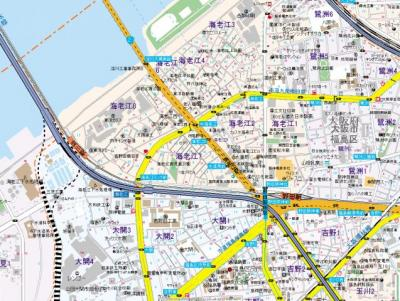 【地図】ツリガミ海老江ツインビルパートⅠ・Ⅱ