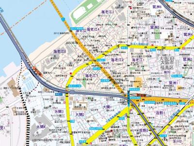 【地図】タウンM2海老江