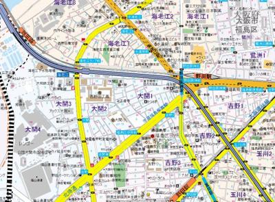 【地図】ジュネス福島