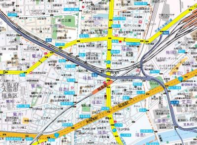 【地図】サムティ福島PORTA