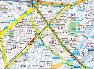 【地図】コンフォール中之島