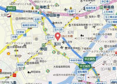 【地図】コンフォート福島