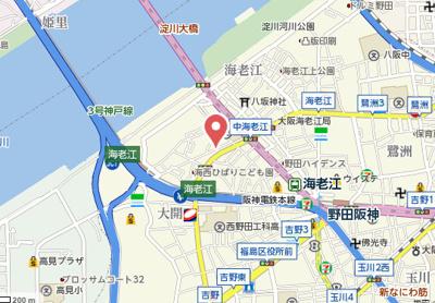 【地図】コーポ海老江