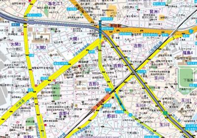 【地図】craft福島野田