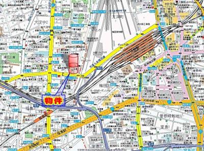 【地図】オアシス梅田