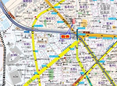 【地図】エムロード福島